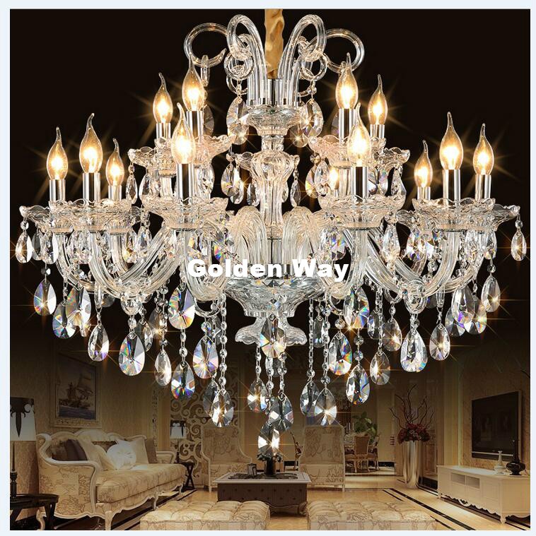Free Shipping Modern Clear Hanging Lamp European Style Chandeliers Light for Living Dining Room Restaurant Home Decor Lighting