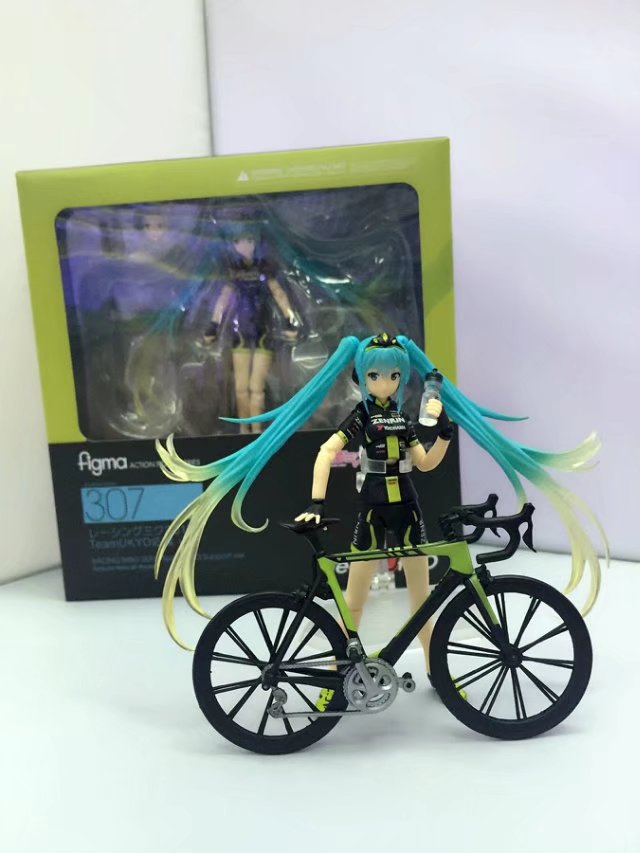 High-Quality 2015 TeamUKYO Figma #307 Hatsune Racing Action Figure Toys Decoration Model image