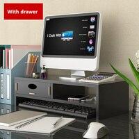 Computer desk monitors increased frame Computer stand desktop storage monitor base laptop desk table