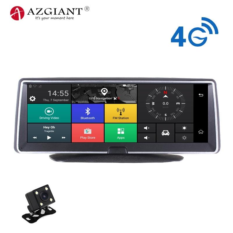 4 г Wi-Fi автомобильный видеорегистратор Android Smart Системы 360 градусов вращения 8 дюймов ips Сенсорный экран Видеокамера 170 Широкий формат gps навиг...