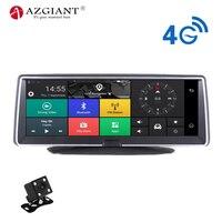 4 г Wi Fi автомобильный видеорегистратор Android Smart Системы 360 градусов вращения 8 дюймов ips Сенсорный экран Видеокамера 170 Широкий формат gps навиг