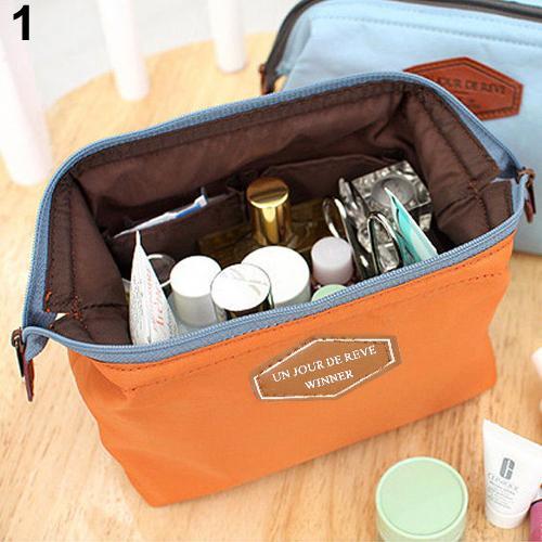 Portable Cosmetic Organizer Beauty Travel Makeup Zipper Bag Case Toiletry Pouch
