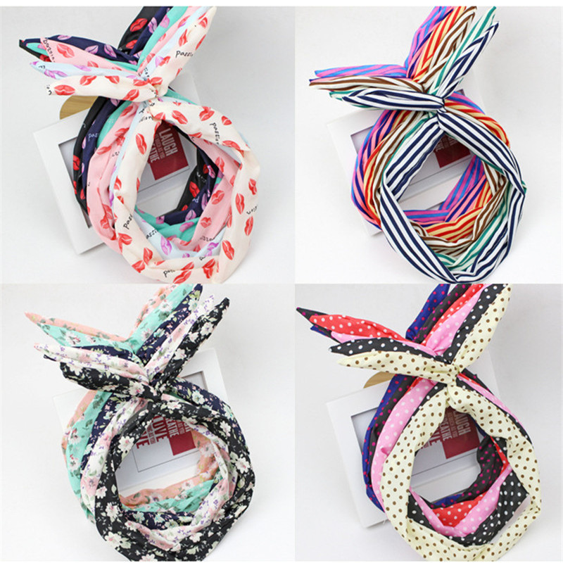 2017 Hot Sale 1PC Korean Fashion Hair Bands Cloth Rabbit Ears Headband Cute Dot Hairband Hair Accessories for Women Girls