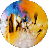 Hand painted Watercolor Modern Circle Art Painting Colorful For Living Room
