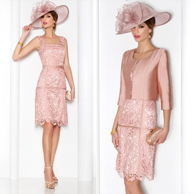 De encaje De color rosa lf2739 madre De la novia viste con manguito Vestido párr mae De Noiva 2015 más tamaño vestidos De noche en línea tienda en ...