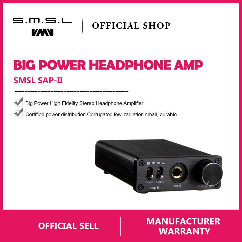 SMSL SAP II Portable Headphone Amplifier TPA6120A2 Big Power HiFi Fidelity Stereo Headphone Amplifier with 2 Ways switch inputs -in Headphone Amplifier from Consumer Electronics