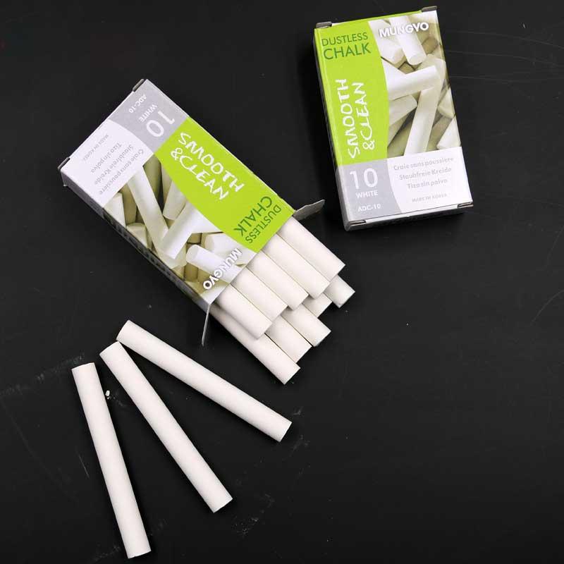 10pcs / pack Kvalitet White Colored Dustless Kalkstavar För - Skola och pedagogiska förnödenheter - Foto 5