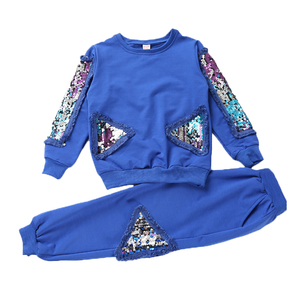 Image 5 - New Children Clothing Sets For Girls Spring Autumn Kids Sequined Sports Suits Teenage Girl Tracksuits Sportswear Girls Kids Set