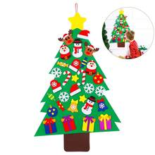 31pcsset santas tree magic jigsaw puzzle kids xmas creative gift diy felt decoration toy christmas decorations for home - Where To Buy Cheap Christmas Tree