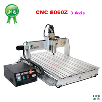2 sets 2200W 3axis cnc router woodworking 8060Z USB port metal engraving machine with ball screw 1605
