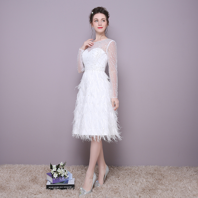2017 New Arrival Style Gorgeous White Long Sleeve Prom Dresses 2017 ...