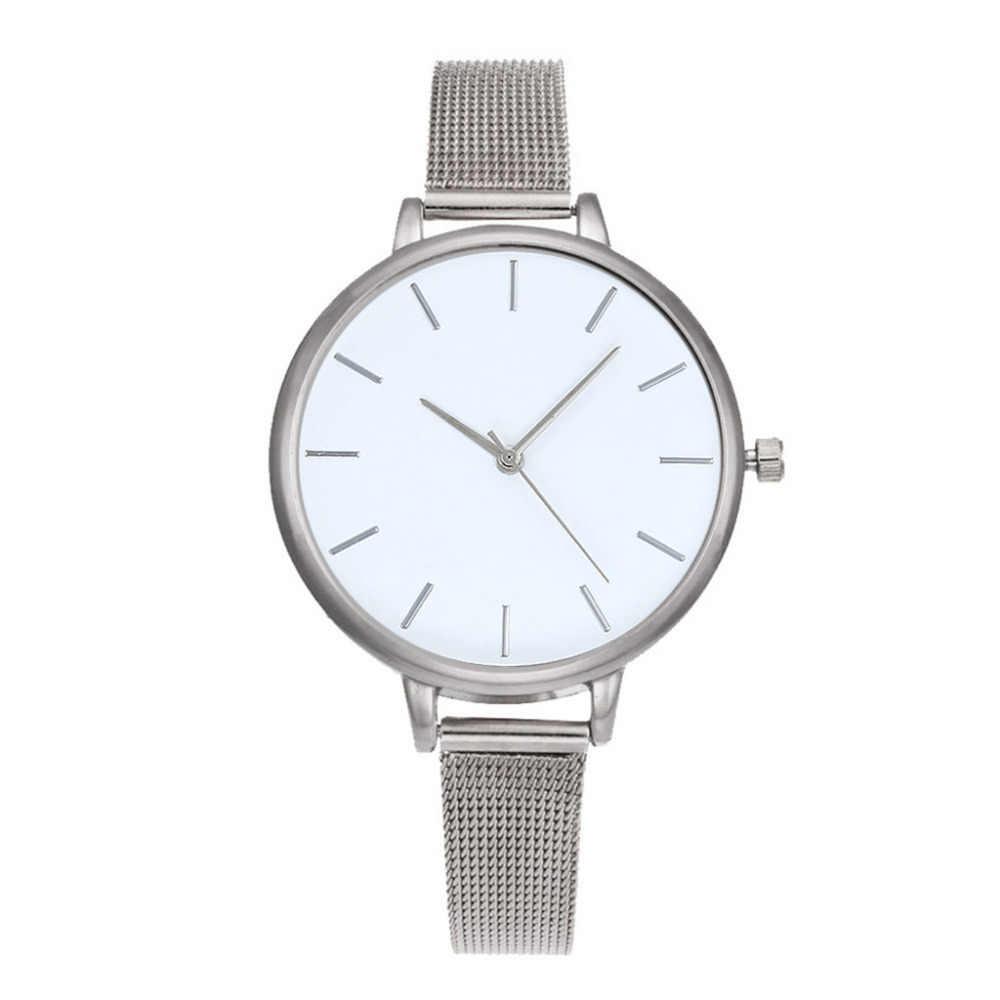 2019 montre de mode femmes de luxe maille en acier inoxydable ceinture décontracté dames montre-bracelet cadeau robe Relogio Feminino haute qualité/AA5