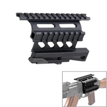 Tactical AK Serie Rail de Montaje Lateral Rápido Estilo 20mm QD Separar Weaver carril Lateral Doble AK Scope Sight Mounts Rifle