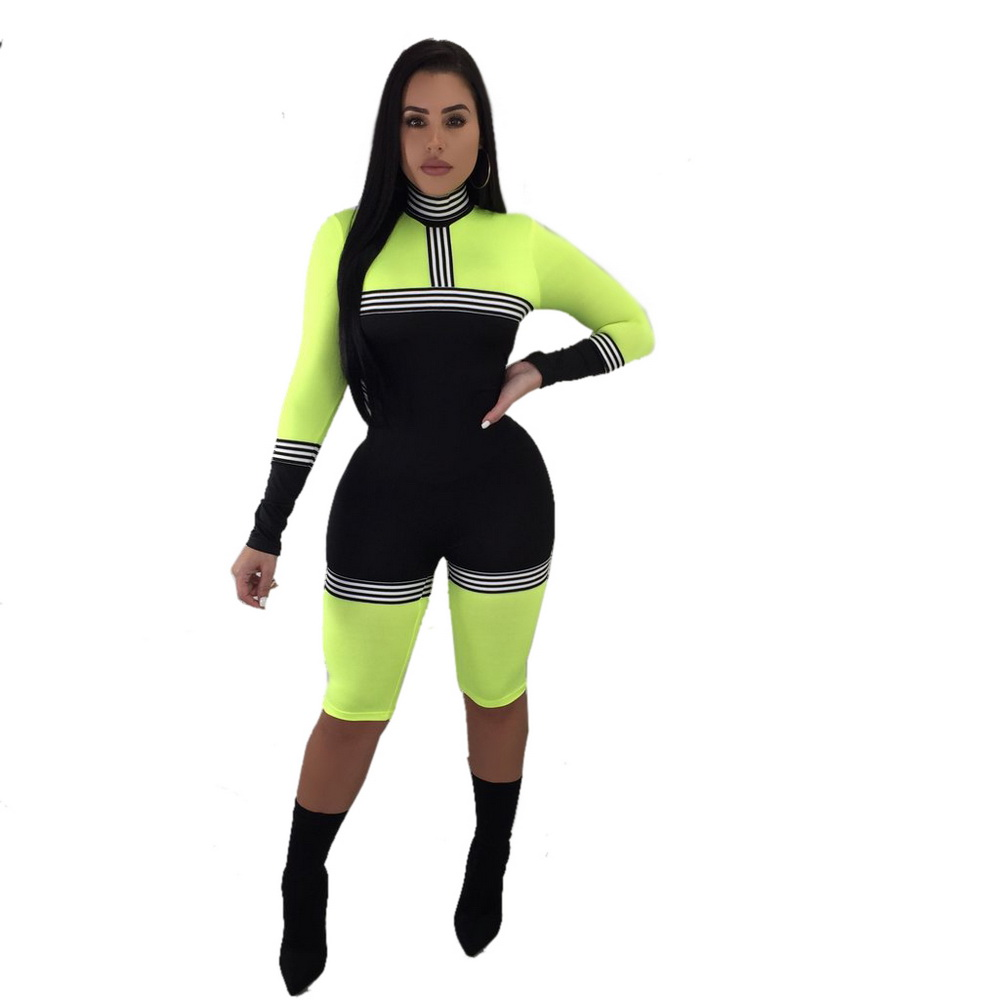 JIZHENGHOUSE Sexy Women Long Sleeve Skinny Bodysuit Summer O-Neck Feminino Rompers Jumpsuit Overalls
