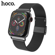 HOCO Milanese Loop for Apple Watch 5 4 3 2 1 Band 44mm 40mm 38mm iWatch Series Stainless Steel Strap Belt Women Men Bracelet