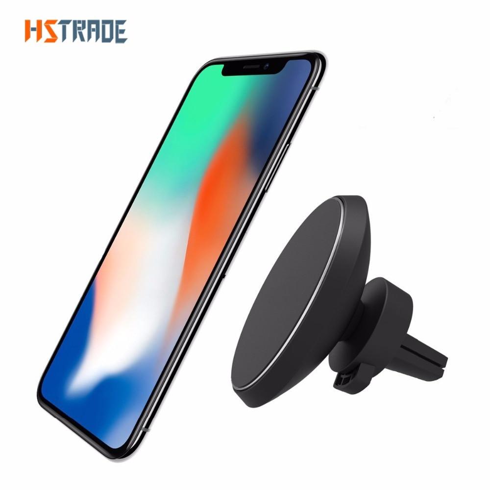 HSTRADE 360 Degrés Rotation QI Standard Téléphone De Voiture Magnétique Sans Fil Chargeur Pour iphone 8 X Samsung S8 S8 Plus S 6 bord S 7 bord