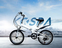 6 Speed Adjustable Folding Bike 20 Inch Road Bike Male And Female Cycling High Carbon Steel