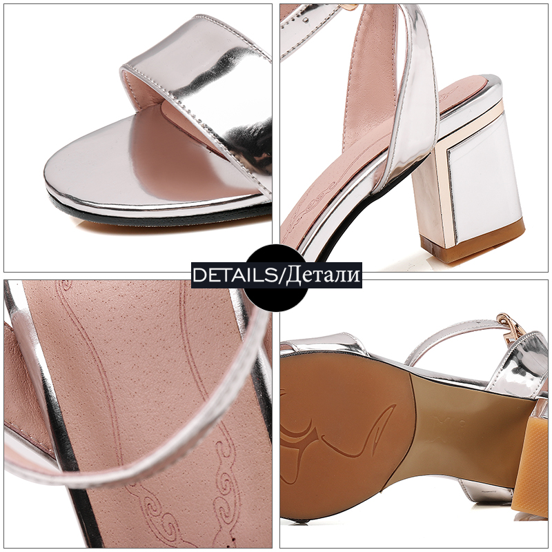 Schuhe Isnom 2018 Kuh Frauen Spitze Große Büro Gold Strap silber 45 Weibliche High Sandalen Cross Größe Heels Leder Mode Sommer Offene wBx40qBrO