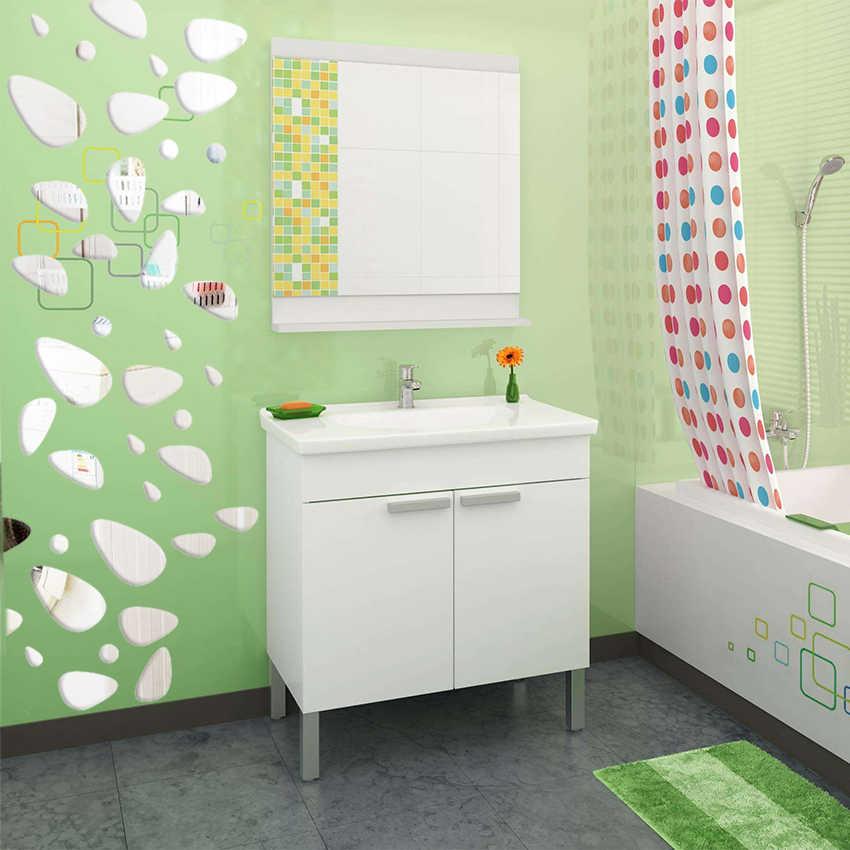 12 قطعة/المجموعة DIY 3D الاكريليك مرآة الفينيل الفن جدارية جدار ملصقا غرفة الديكور معيشة ديكور جدران المنزل