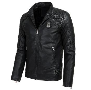 2020 New Autumn and winter Brand men's Leather jackets thickening Plus velvet Motorcycle Men Outerwear male Faux Leather Coat