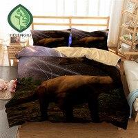HELENGILI 3D Bedding Set Jurassic Park Dinosaur Print Duvet cover set bedclothes with pillowcase bed set home Textiles #2 02
