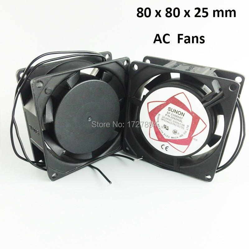 Aluminum Alloy AC 220V Axial Blower Fan 8cm(3) Cooling Fans 2pcs/lot