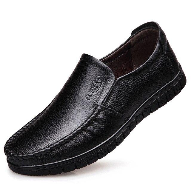 2017 جديد أزياء الرجال عارضة إلكتروني أحذية الانزلاق على جولة اصبع القدم الكلاسيكية تنفس الشقق المتسكعون-في أحذية رجالية غير رسمية من أحذية على  مجموعة 1