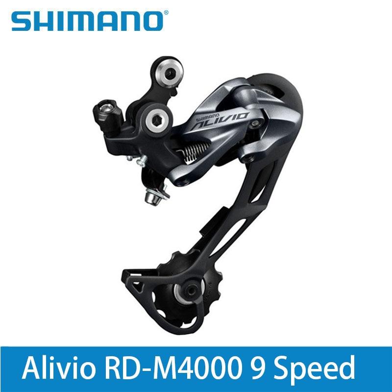 Shimano Alivio RD-M4000 9 Speed Mountain Bike Rear Derailleur 27 Speed Black Lucky Crazwind Hot Road Bike cyrusher am xf200 black red mans mountain bike shiman0 alivio m4000 27 speeds xcr fork bb5 disc brakes
