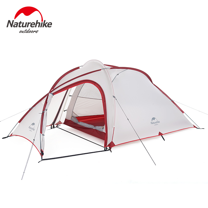 Image 3 - Naturehike Tent 2019 New Hiby Series Camping Tent 20D Silicone Fabric Outdoor 3 4 Persons Ultra light 4 Season Family TentTents   -