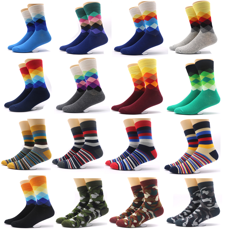 1pair 3D Print Funny Socks Men Novelty Colorful Pattern Thermal Socks Short Winter Warm Socks for Man Casual Calcetines Hombre ...