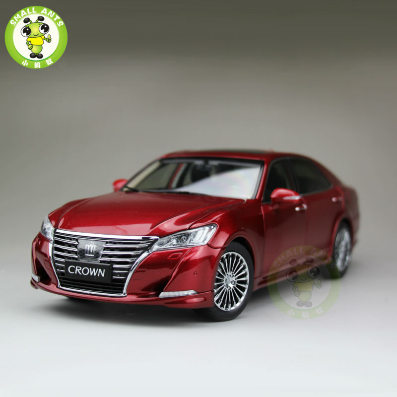 все цены на 1:18 Toyota Crown Diecast Model Car for collection gifts hobby Red