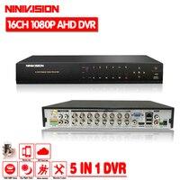 16ช่องAHD DVR 1080จุดDVR 16CH TVI CVIสนับสนุน1920*1080 2.0MPกล้องกล้องวงจรปิดบันทึกวิดีโอDVR NVR HVRระบบ