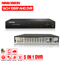 16 Channel AHD DVR 1080P DVR 16CH TVI CVI Support 1920 1080 2 0MP Camera CCTV