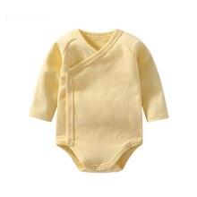 Bodysuits Snap Buttons V-Neck 100% Cotton Long-Sleeves Soft Cute Unisex-Baby Bodysuits 3-12 Months недорго, оригинальная цена