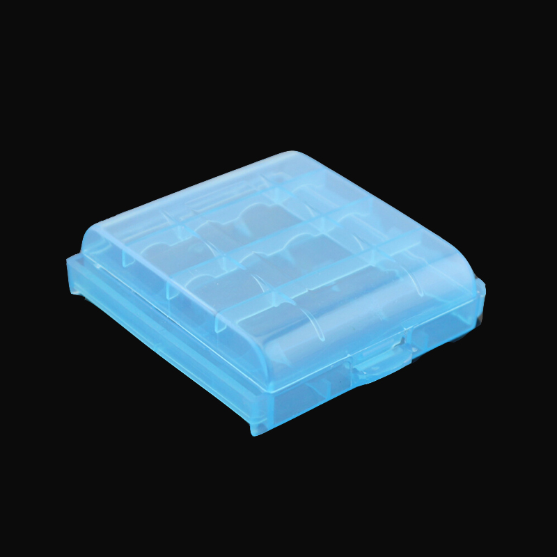 2018 Coloful Battery Holder Case 4 AA AAA Hard Plastic Storage Box Cover For 14500 10440 Battery Wholesale