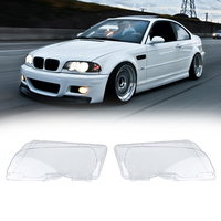 1Pair Front Right Left Head Light Lamp Cover Lens For BMW E46 Coupe 2 Door 99