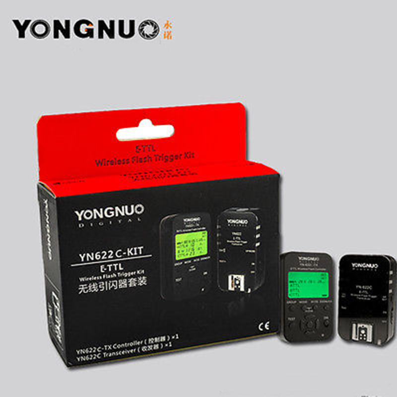 Yongnuo YN-622C TX+ Wireless flash trigger  YN-622C yn622c kit for Canon E-TTL camera 5d III  60d 7d 700d 60d 70d 1d 550d yongnuo trigger flash trigger yn e3 rt e3 rt e3rt ttl flash speedlite wireless transmitter for canon 600ex rt as st e3 rt