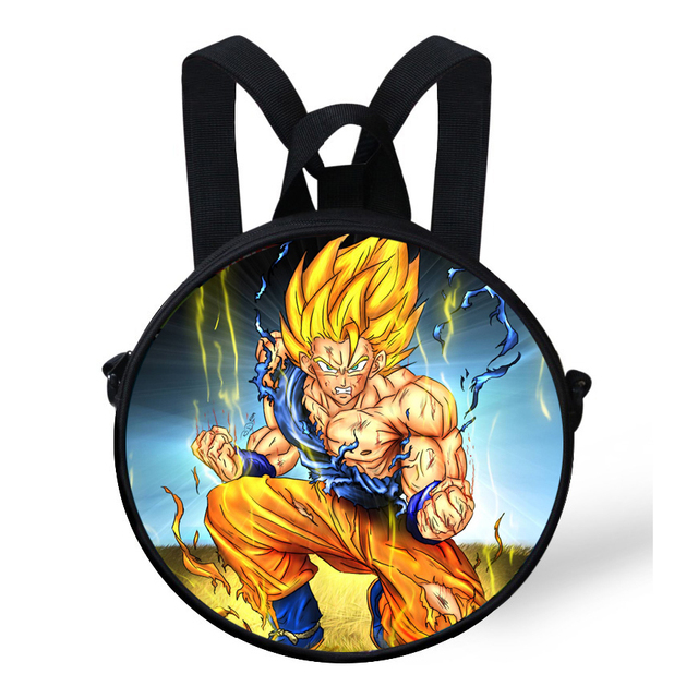 9-Inch Cool Baby Round Backpack Bag For Kids Boys Cartoon Character Dragon  Ball Backpack For Preschool Children Kindergarden Bag 01ad7d460c9b0