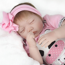 22 Inch 55cm Sleeping Real Life Baby Doll Handmade Realistic Lifelike Baby Toy Gift For Girls Birthday