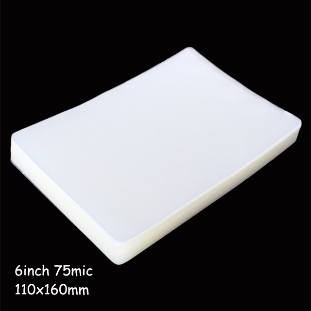 75mic 6inch Laminating Film 160*110mm Laminating Pouch/Sheets Great Protection for Photo Paper Files Card Picture 50pcs/pack