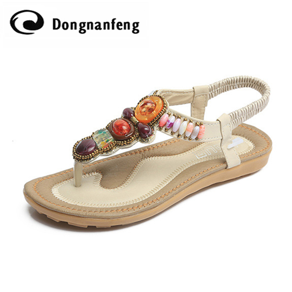 Fashion Women Female Girl Shoes Flats Sandals PU Leather Mujer Flip Flops Summer Beach Crystal Casual Slip On Superstar QL-1