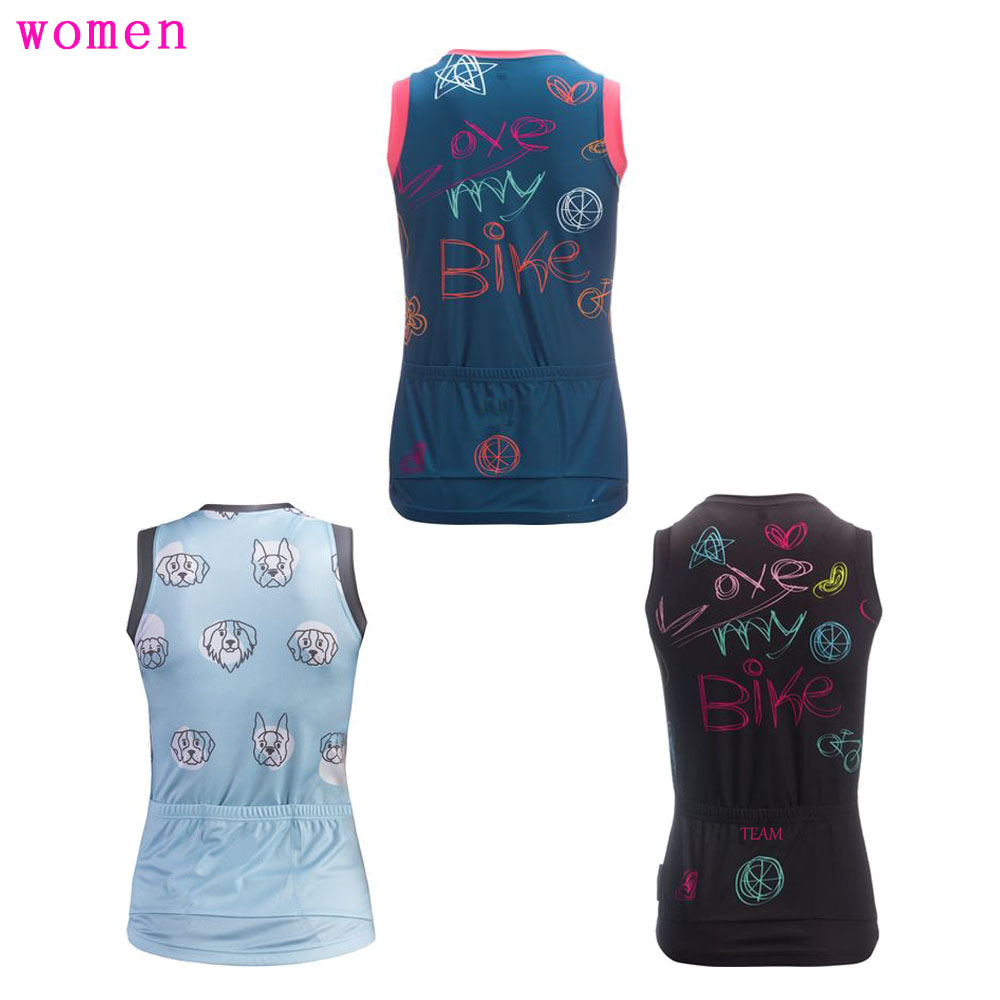 Women cycling jersey Summer bike wear jerseys ropa ciclismo Outdoor sports Cycling Vest MTB sleeveless Bicycle clothing