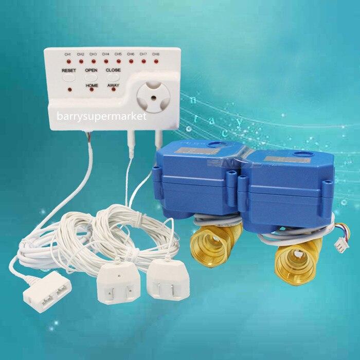 Water Leakage Detetor Sensor Alarms Monitor Flowmeter Indicator Water Saver Prevent Water Loss HIDAKA WLD 806 DN25 double valve