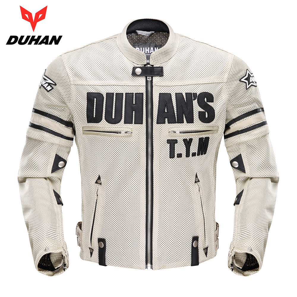 DUHAN Motorcycle Jacket Men Moto Jacket Breathable Mesh Motorbike Jacket Motorcycle Clothing Protective Gear for Spring Summer 2017 new camel outdoor spring summer skin clothing girls waterproof breathable windbreaker sun protective jacket a7s1u7178