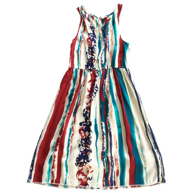 Ju1703 D'été Mode Plage petits Grils Robe Casual Lady Robe Famille Correspondant Tenues Vêtements Mère et Fille Bébé Gril Robe - 6