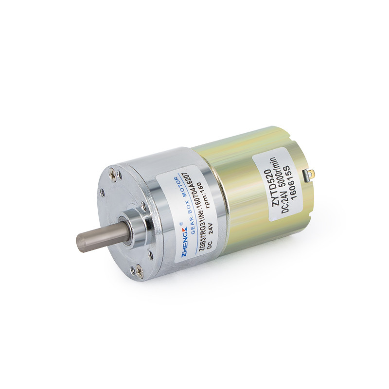 ZGA37RH DC 12V 800RPM 6mm Shaft Dia Speed Reduce Magnetic Electric Geared Motor