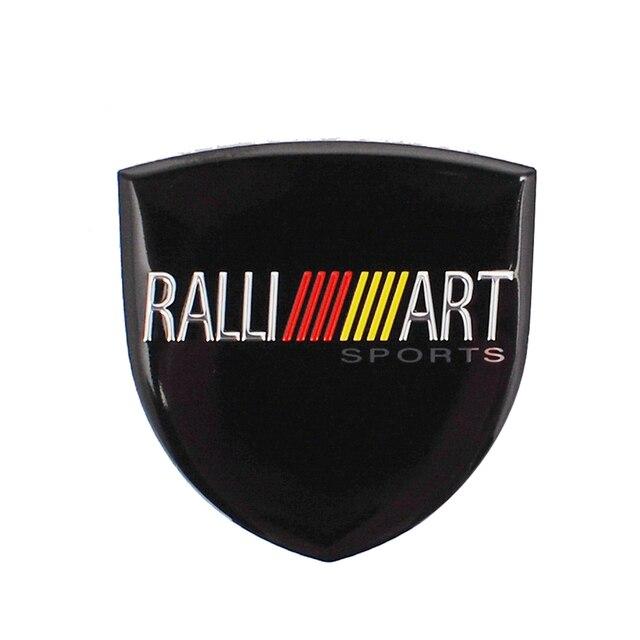 Car Decal Ralliart Emblem Badge for Mitsubishi Outlander Lancer ASX Pajero Colt L200 Galant Carisma ASX Grandis EVO Car Styling