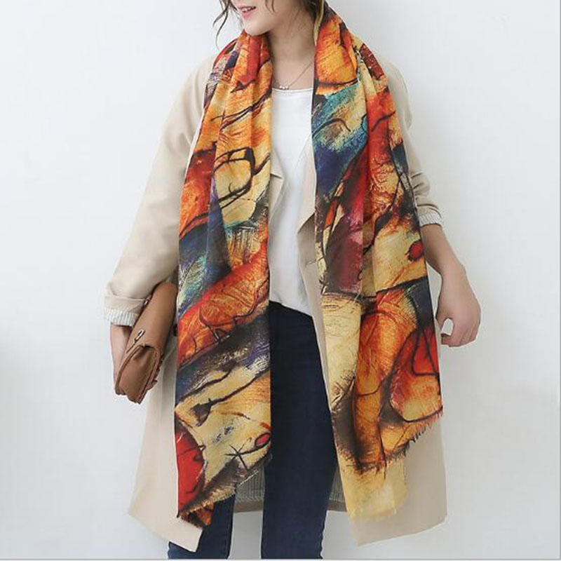 luxury brand Desigual new women Scarf fulares mujer double-sided fringed imitation cashmere thicker warm shawl winter bufandas
