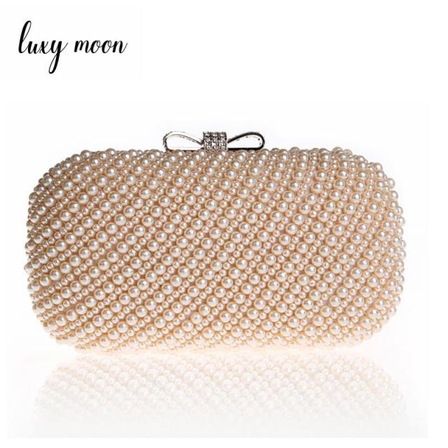 New Luxury Pearl Clutch Bags Women Evening Bags Exquisite Clutches Purse  for Party Wedding Lady Handbags 3601a5dc2b85