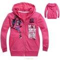 Más reciente monster hight hoodies 4-10y girls sudaderas de manga larga rojo embroma la ropa 2016 summer style clothing nueva moda fa014